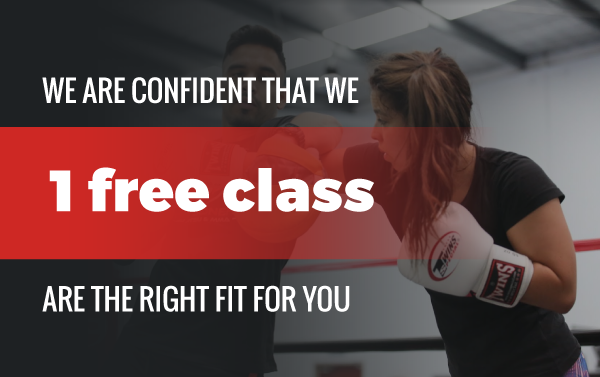 Try a free class - Coach boxing with female student